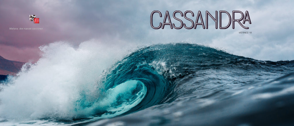 Ola que trae dos canciones de Cassandra, banda chilena, se ven las carátulas en miniatura.