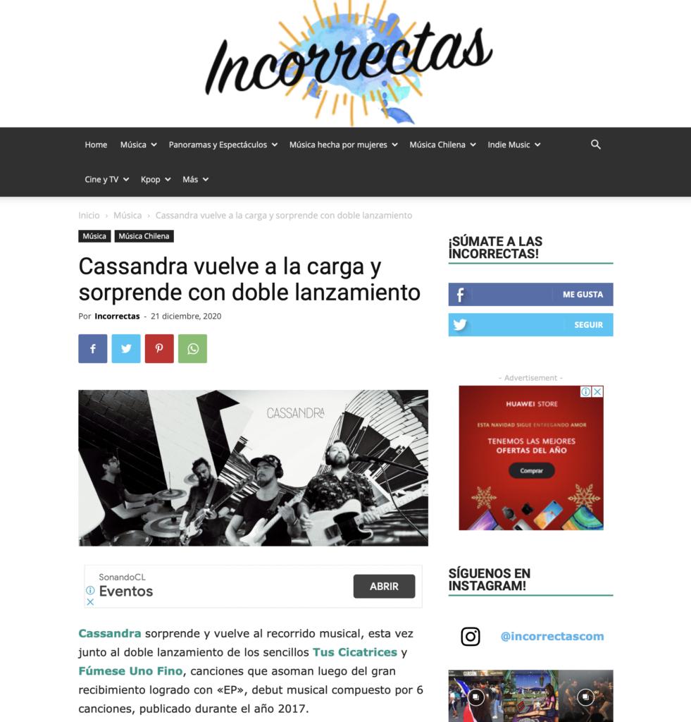 Incorrectas-Cassandra-Prensa-Chile-Tus-Cicatrices-Fumese-Uno