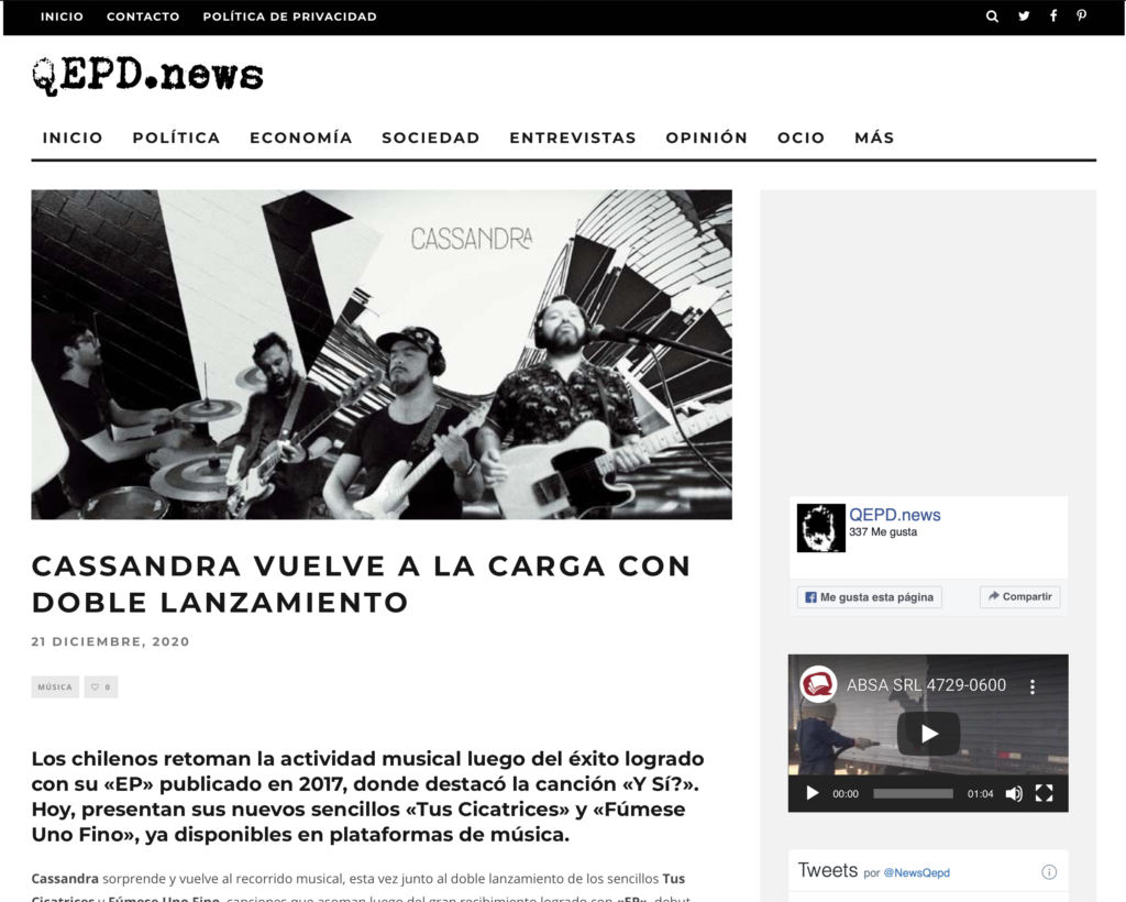 QEPD-News-Cassandra-Prensa-Chile-Tus-Cicatrices-Fumese-Uno